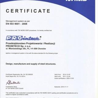 EN ISO 9001 : 2008