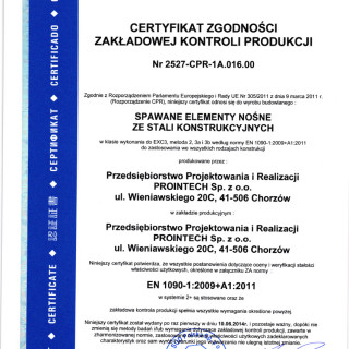 EN 1090-1 : 2009 + A1:2011