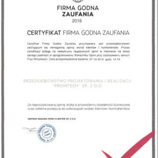 Certyfikat FGZ