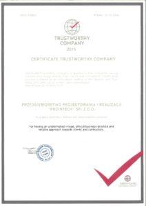 Certyfikat FGZ ang